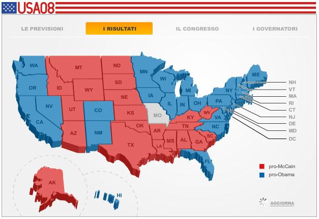 Election Maps - Red blue map of us