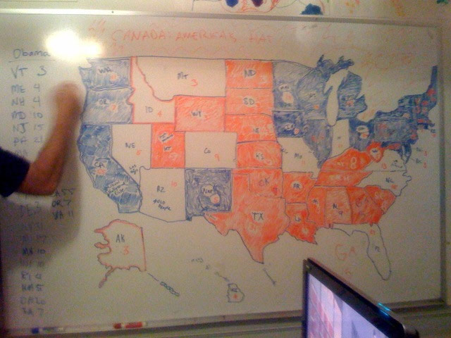 Election Maps - Us map whiteboard