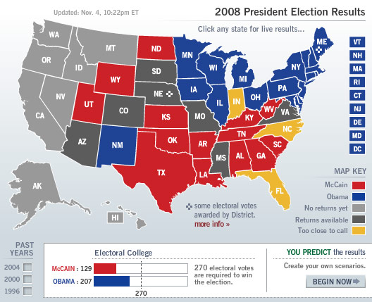 Election Maps - Us elections live results map